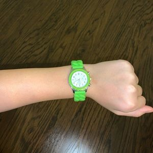 Green jelly band watch